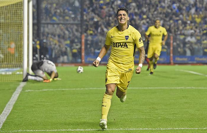 Cristian Pavón, anotó el 3-1 a Newell's y sentenció el marcador (Foto: Twitter)