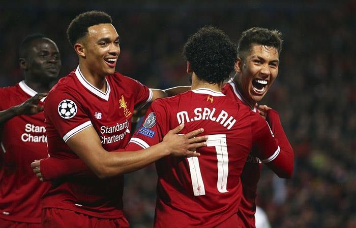 Liverpool sacó un triunfo importante 5-2 la Roma. Foto: Twitter