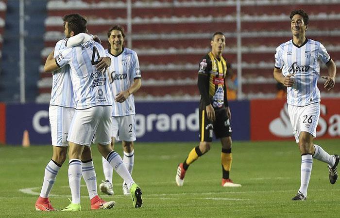 Atlético Tucumán quiere repetir su triunfo sobre The Strongest este miércoles. (). Foto: EFE