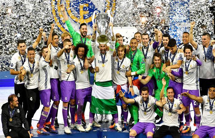 Real Madrid quiere conseguir el tercer título de Champions consecutivo por segunda vez en su historia. (AFP)