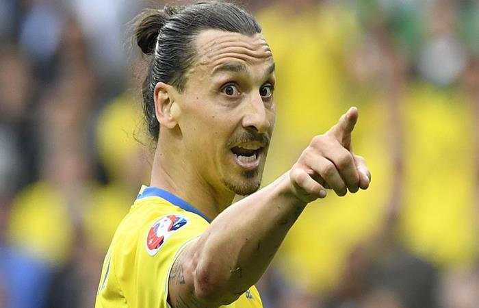 Zlatan Ibrahimovic expresó su deseo de estar en Rusia con su país. (AFP)