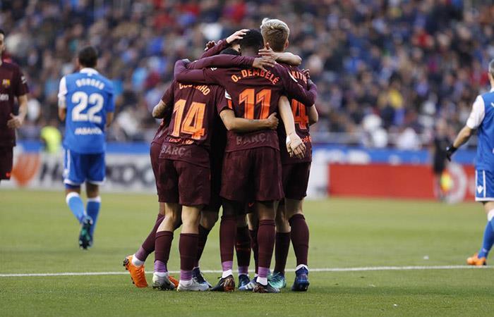 Barcelona con Lionel Messi logra la corona de LaLiga en España. Foto: Facebook