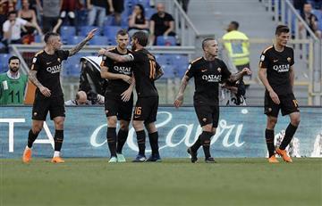 Roma goleó al Chievo Verona y se prepara para la Champions