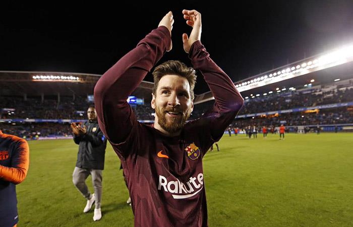 Lionel Messi ganó su novena Liga en lo que va en el Barcelona. Foto: Twitter