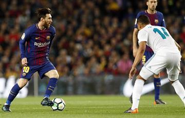 Barcelona con Lionel Messi empató 2-2 con el Real Madrid por LaLiga