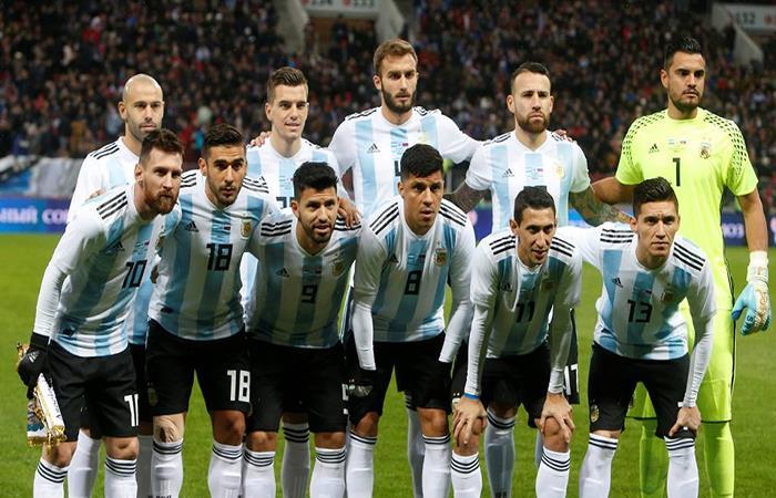 Selección Argentina. Foto: AFP