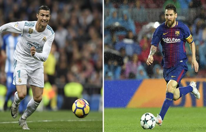 Cristiano Ronaldo y Lionel Messi chocan una vez más. (AFP)