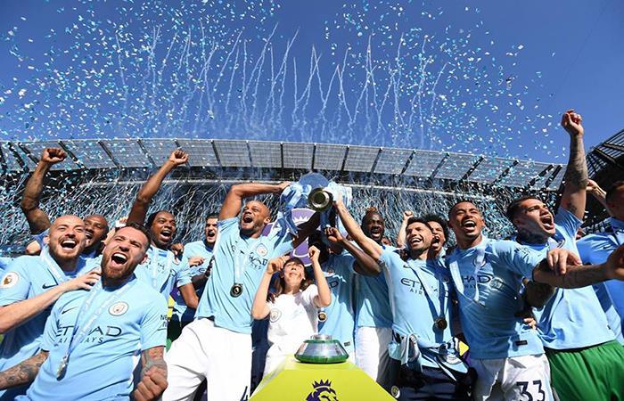 Manchester City festejó el campeonato de la Premier League. Foto: Facebook