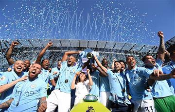 Manchester City igualó 0-0 con el Huddersfield pero festejó el campeonato