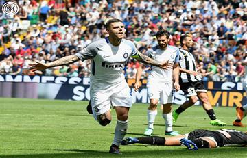 Mauro Icardi anotó en la goleada del Inter sobre el Udinese