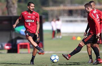 Paolo Guerrero vuelve a los entrenamientos y entra en la convocatoria del Flamengo
