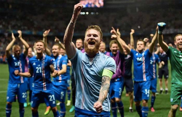 Selección de Islandia. Foto: AFP