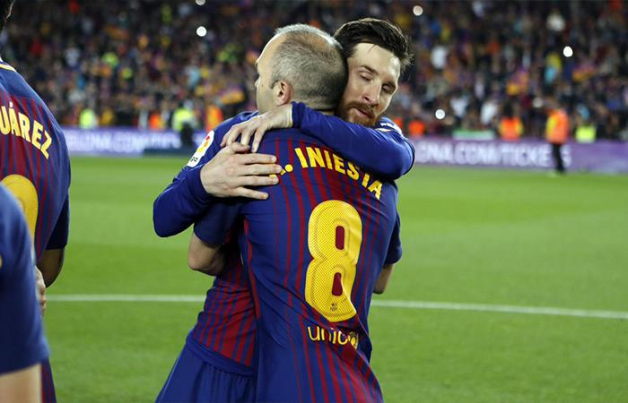 Lionel Messi y Andrés Iniesta. Foto: Twitter