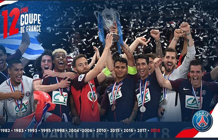 PSG campeón de la Copa de Francia (Foto: Twitter)