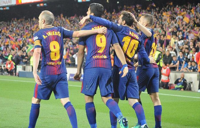 Barcelona vs Villareal. Foto: Twitter