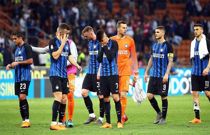 Inter cayó 2-1 ante el Sassuolo. Foto: Twitter