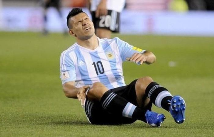 Sergio Agüero se viene recuperando para llegar al Mundial. (AFP)