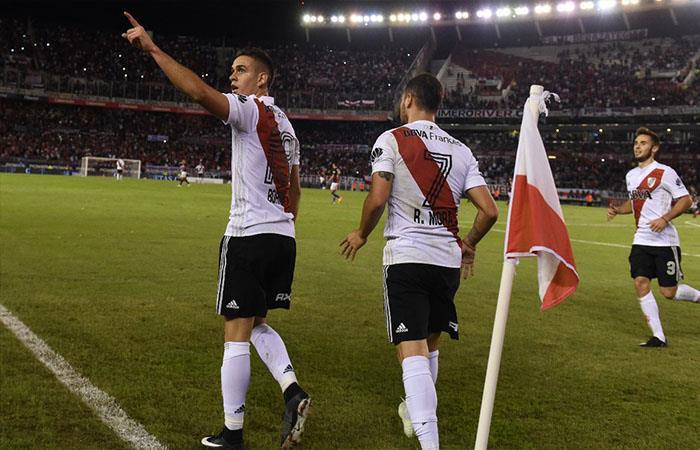 River Plate derrotó 2-0 a San Lorenzo. Foto: Twitter