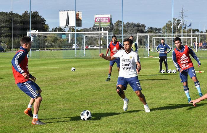 Jugadores de la Selección ya preparan sus entrenamientos con la Selección desde el predio de la AFA. Foto: Twitter