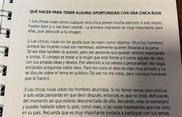 """AFA manda insólito manual sobre """"cómo seducir chicas rusas"""" en el Mundial"""