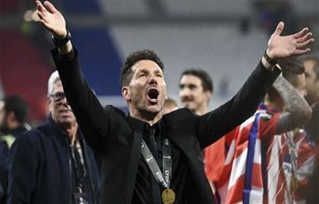 Diego Simeone: la celebración del 'cholo' tras ganar la Europa League