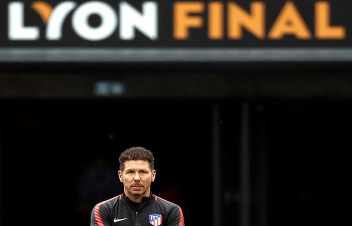 Diego Simeone se pierde la final de la Europa League. (). Foto: EFE
