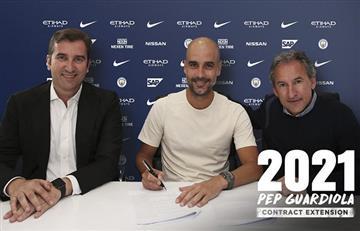 Sergio Agüero: Pep Guardiola seguirá al mando del Manchester City hasta el 2021