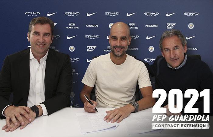 'Pep' Guardiola renovó su contrato con el Manchester City hasta el 2021