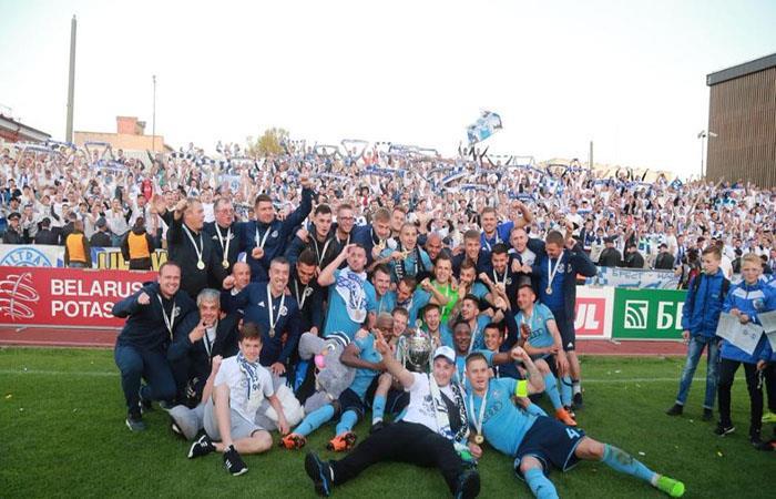 El Dinamo Brest es el campeón de la Copa de Bielorrusia. (FTO: Twitter)