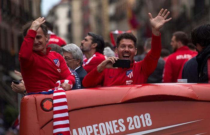 Felicidad en estado puro de Diego Simeone. Foto: EFE