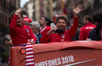 Diego Simeone y su emocionante discurso en la celebración del Atlético de Madrid
