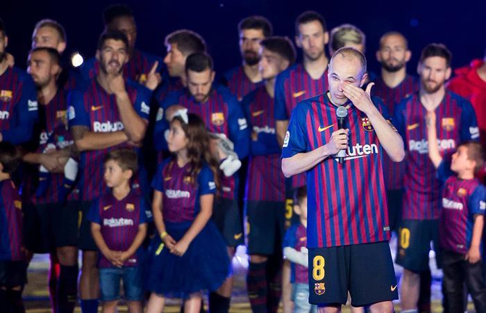 Andrés Iniesta se despidió del Barcelona tras 22 temporadas en el club (Foto: Twitter)
