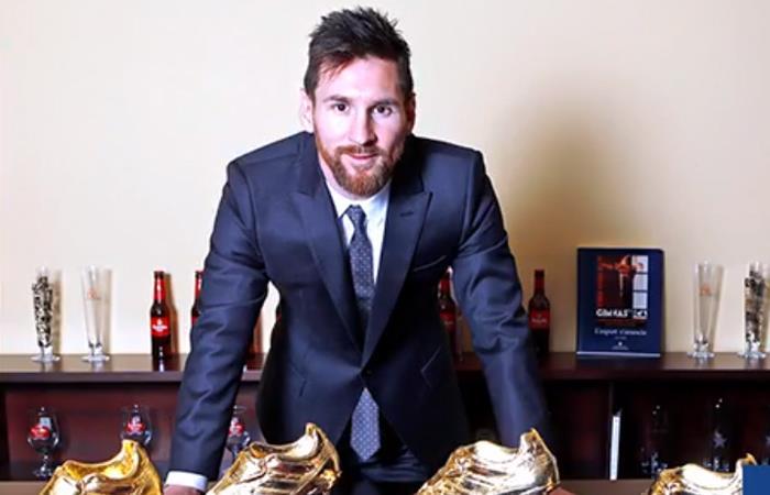 Lionel Messi obtuvo su quinta Bota de Oro con 34 dianas en toda la temporada (Foto: Twitter)