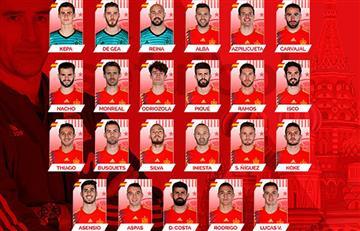 Rusia 2018: España presenta su lista definitiva de cara al Mundial