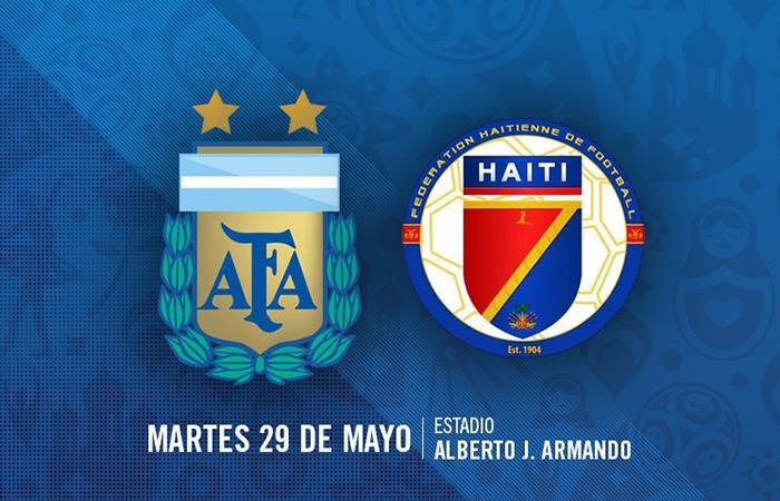 AFA confirmó la hora del Argentina vs Haití (Foto: Twitter)