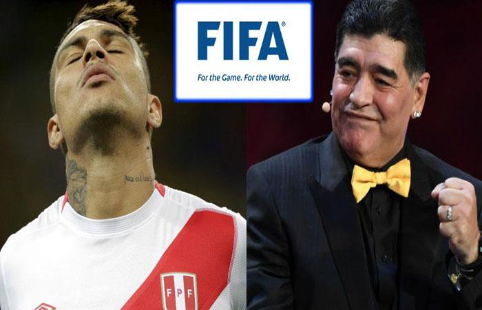 Diego Armando Maradona confía con ver a Guerrero en el Mundial. Foto: AFP