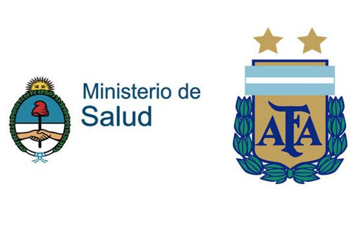 AFA y el Ministerio de Salud de la Nación (Foto: Twitter)