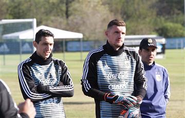 Selección Argentina: Franco Armani entrenó por primera vez con la 'Albiceleste'