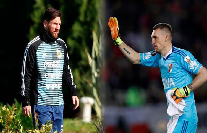 Franco Armani: 'Messi me hizo todos los goles'