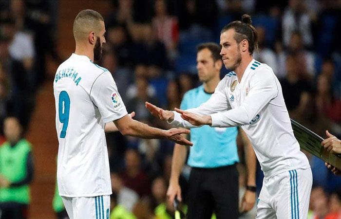 Gareth Bale o Karim Benzema, uno de los dos será titular en Kiev. Foto: EFE