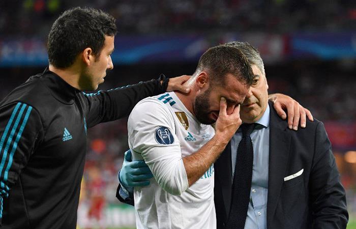 Champions  League: asi fue la lesión de Dani Carvajal que le podría dejar sin Mundial