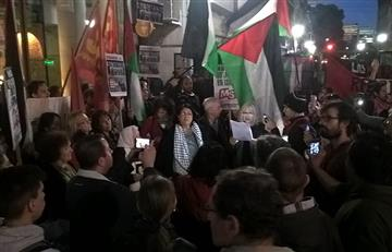 Protestan frente a la AFA para que se cancele amistoso de Argentina en Israel