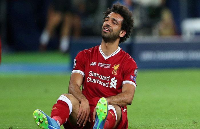 Mohamed Salah salió lesionado de la final de la Champions. (FOTO: AFP)