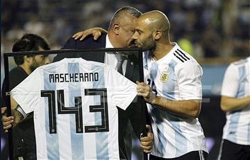 Javier Mascherano cumplió 143 partidos con la Selección Argentina
