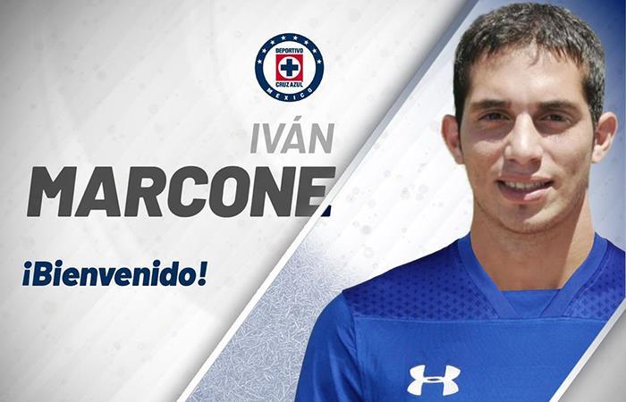 Cruz Azul oficializó a Iván Marcone como su nuevo jugador (Foto: Twitter)