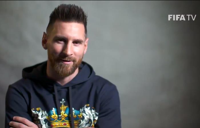 Lionel Messi brindó un ping pong ante el canal oficial de la FIFA (Foto: Twitter)