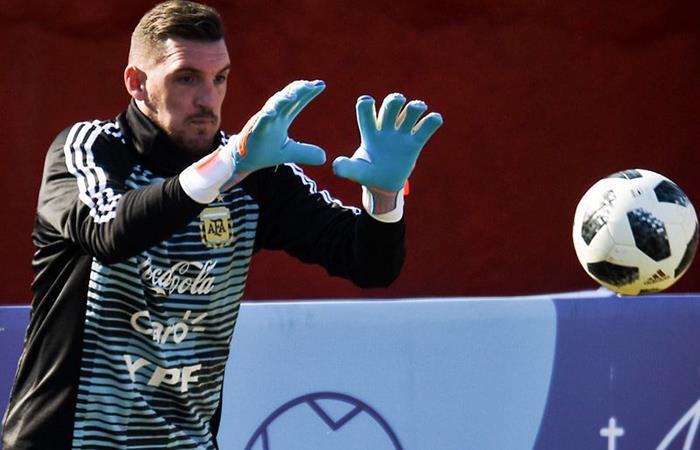 Franco Armani, se perfila como arquero de la Selección ante Israel (Foto: Twitter)