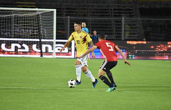 Colombia igualó 0-0 ante Egipto (Foto: Twitter)