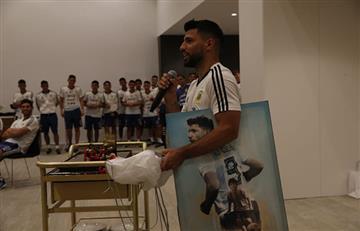 Sergio Agüero celebró su cumpleaños en la concentración de la Selección Argentina