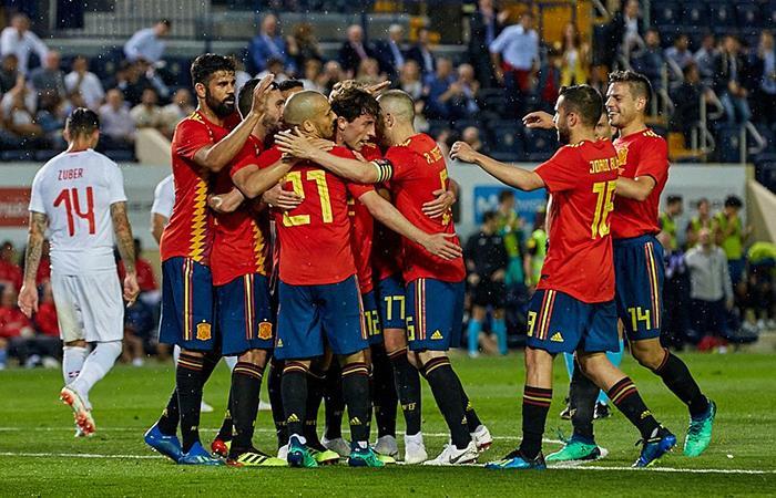 España empató 1-1 en su despedida ante Suiza en Villarreal. Foto: Twitter